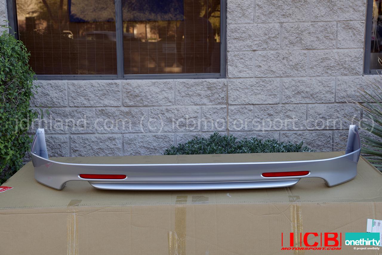 jdm cl7 accord euro r rear lip spoiler 2004 2005   nh623m b507p