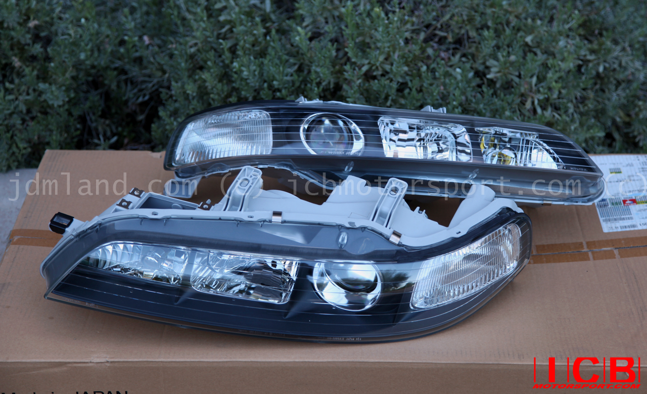 Jdm Dc2 Integra Dc2 Itr Black Housing Headlights Non Hid