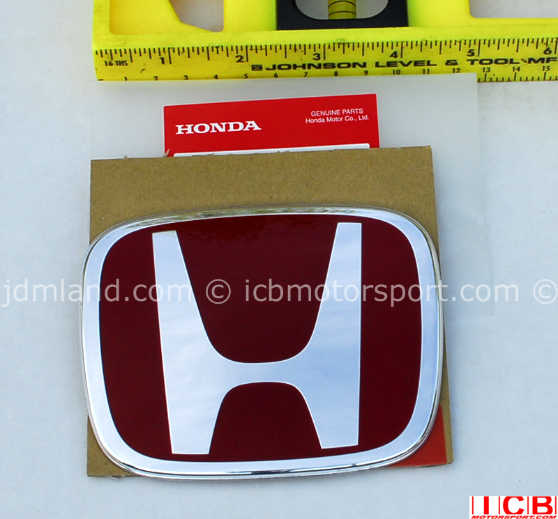 C GENUINE GRILL BADGE EMBLEM HONDA CIVIC TYPE R FN2 2006-11 FITS FRONT OR REAR