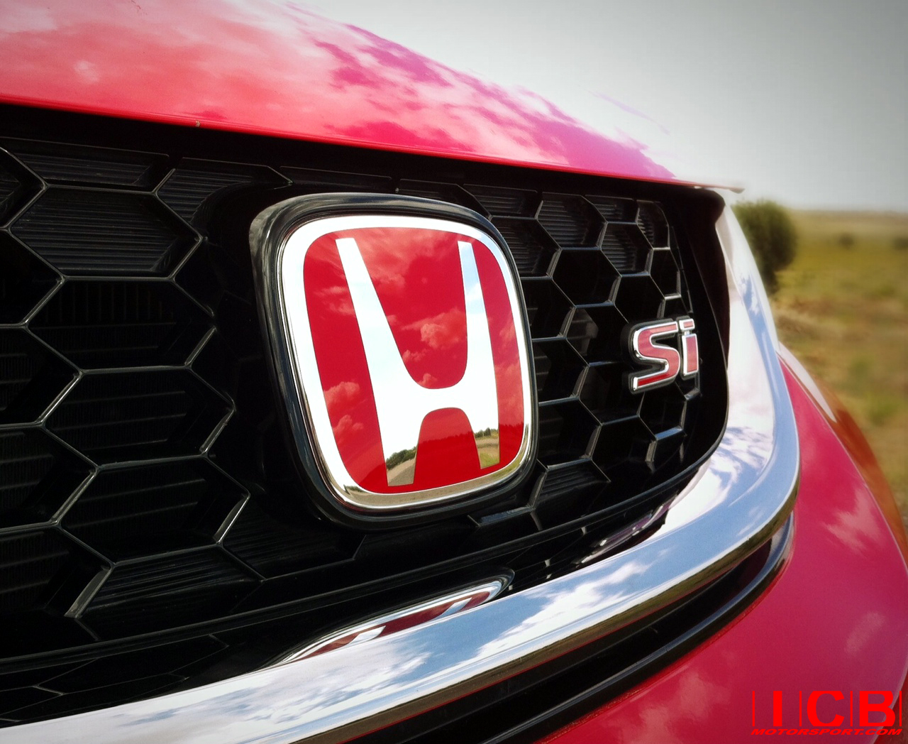 USDM FB6 Civic Si 2012-15 Sedan Front and Rear Red H Combo