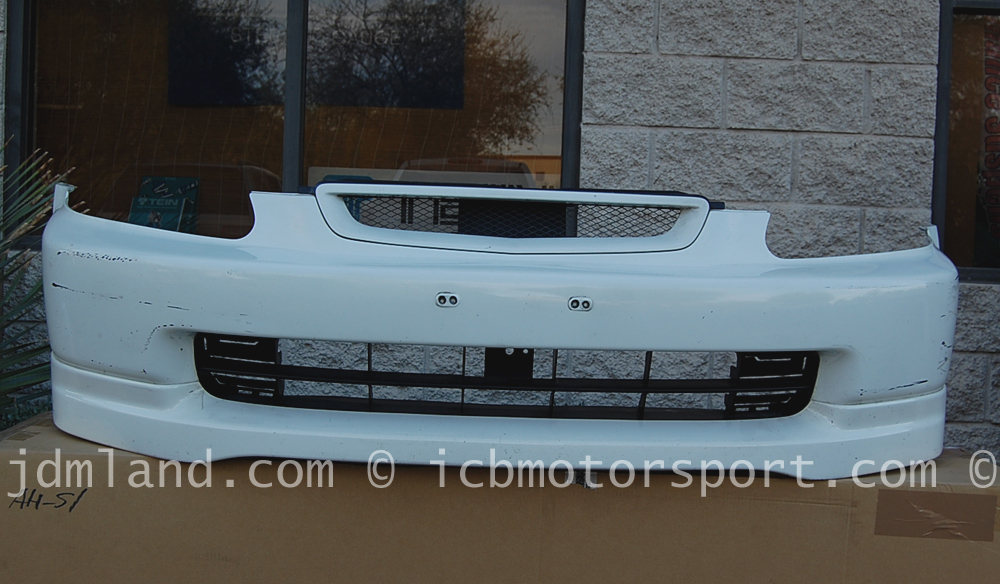 Used ek9 civic type r 96 98 front bumper with lip and grille nh0 champ white sold