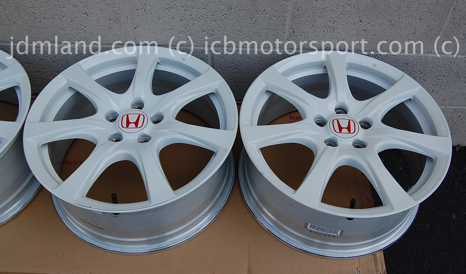 used fd2 civic type r champ white wheels 18 sold. Black Bedroom Furniture Sets. Home Design Ideas