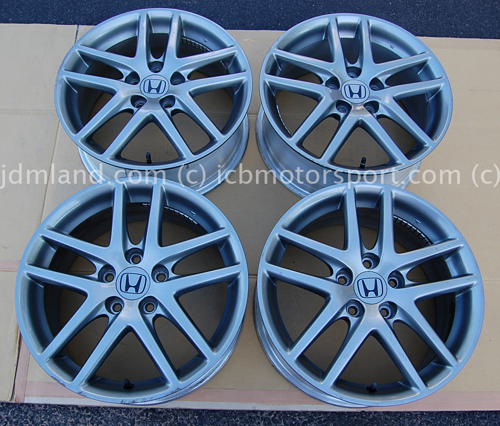 Jdm cl7 accord euro r 17 quot gunmetal wheels tsx sold