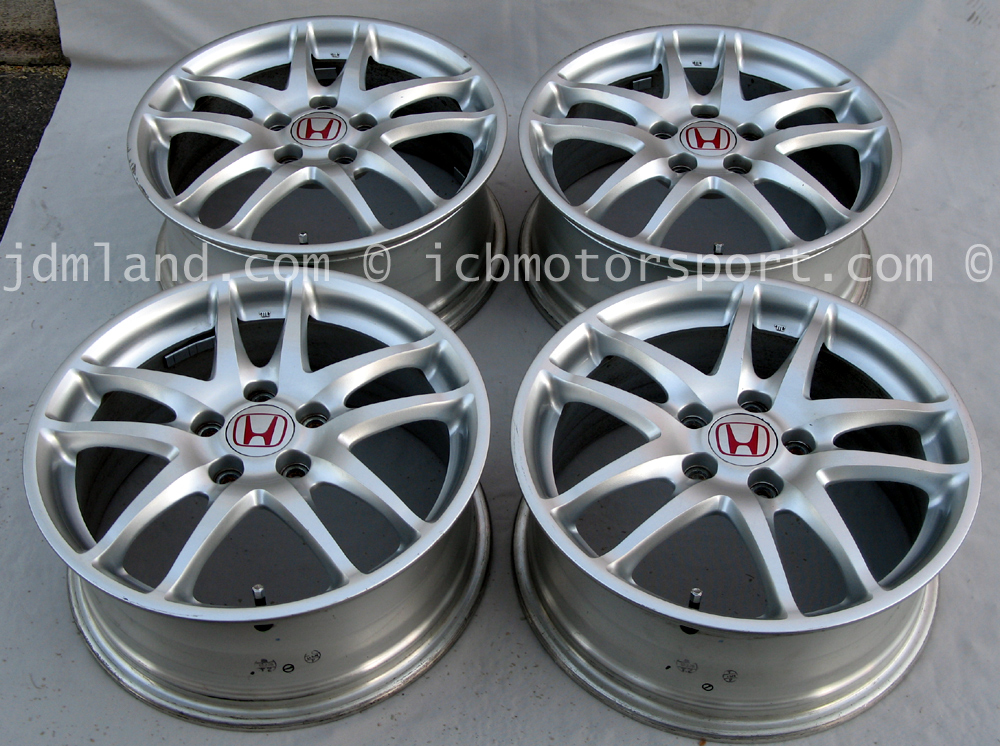 used integra dc5 itr type r silver wheels 17x7 60 offset sold icb motorsport