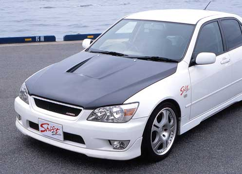 JDM Shift Sports FRP/Carbon Aero Vented Hood Toyota Altezza IS300 SXE10  PRE ORDER