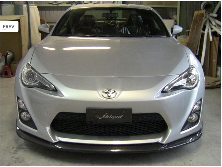 J Blood Front Lip Spoiler Frp Carbon Toyota Ft86 Scion Frs