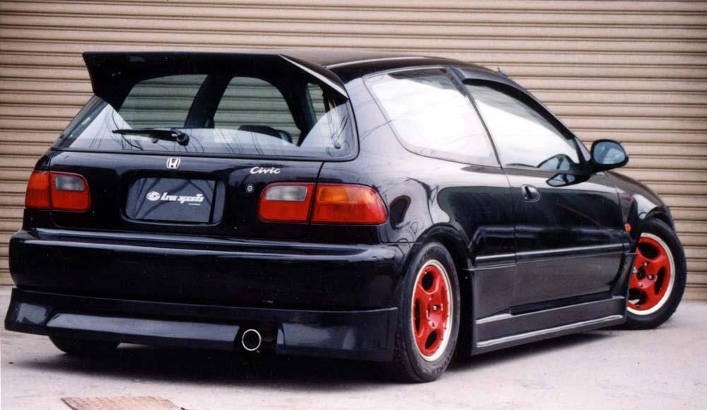 Live Sports Civic Eg6 Hatchback Rear Wing Spoiler Rare