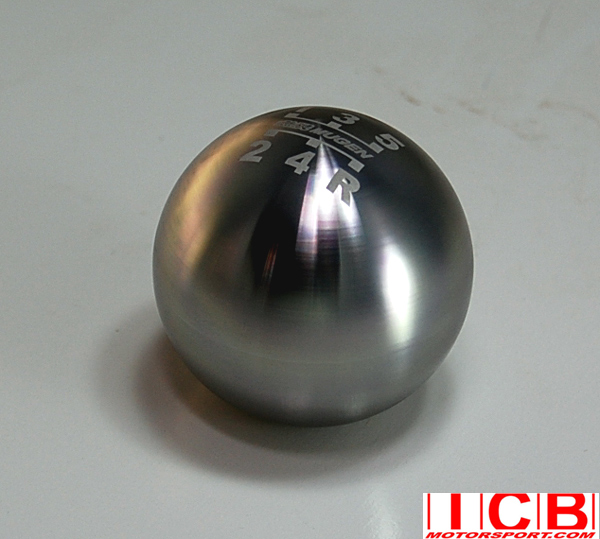 Mugen Round Ball Shift Knob 5 Speed Etched Pattern