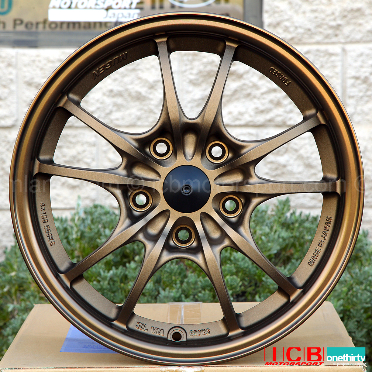 Mugen Mf10 Forged Wheels 5x114 3 15x7 0 43 Offset Bronze