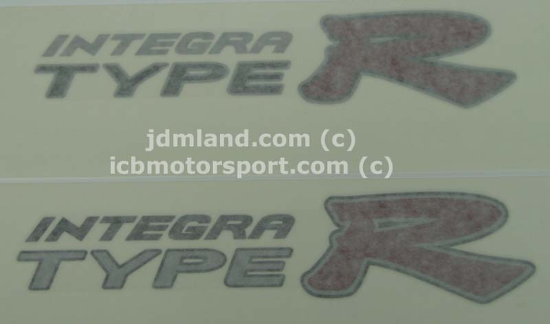 Jdm Dc Typer Side Decalsi on Honda Type R