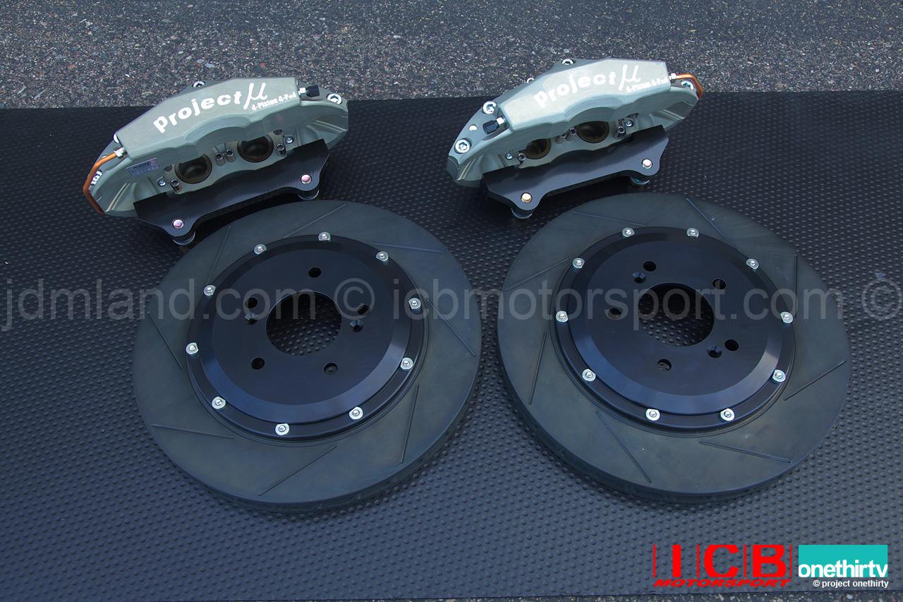 Project Mu Forged Caliper Pot Slim Brake Kit Mm Rotor Acura Integra Dc Type R Color Tufram on Acura Integra Type R