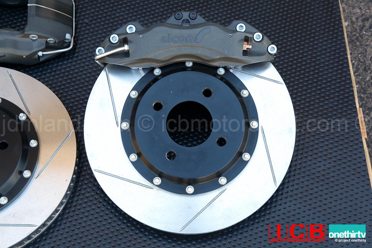 "Hawk Brake Pads >> Alcon Forged Calipers w/ 295mm/11.6"" Rotors   Brake Kit 5X114.3 Civic EG2/6/9 EJ1 EK3 EK4 EK9 ..."