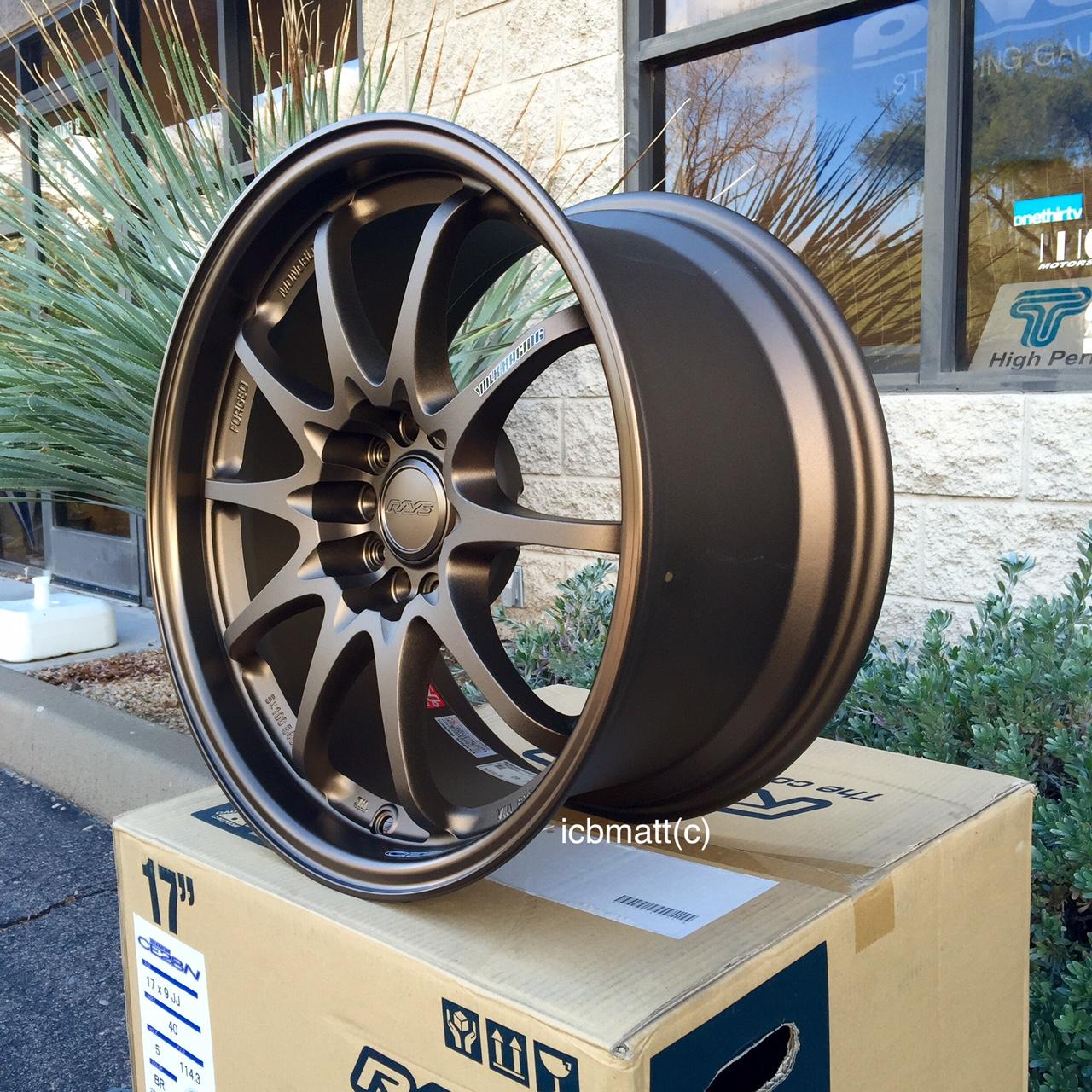 Rays Volk Racing CE28N Bronze Wheels Set 5X114.3 16X8 +35