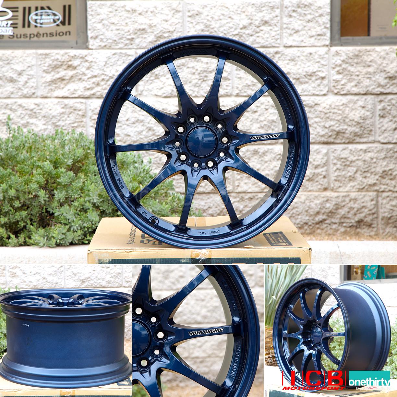 Rays Volk Racing CE28N Mag Blue Wheels Set 5X114.3 17X8