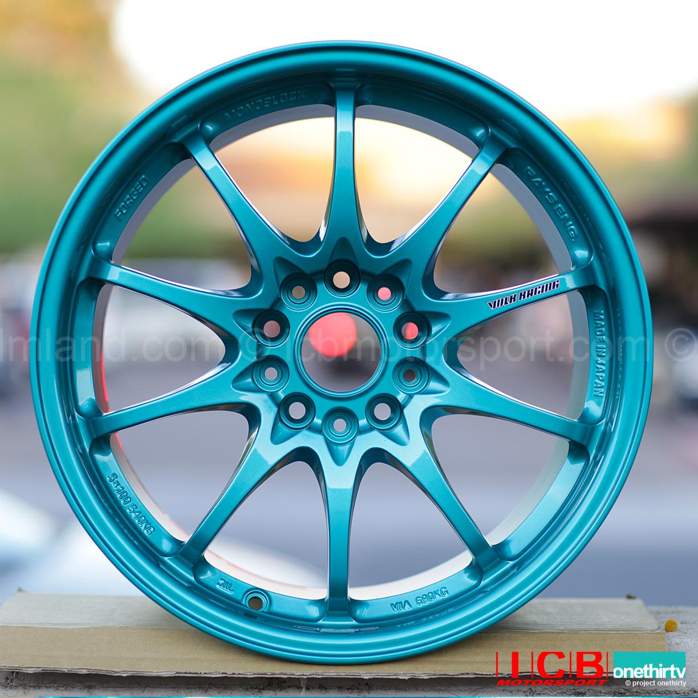 Rays Volk Racing Ce28n Hyper Green Wheels Set 5x114 3