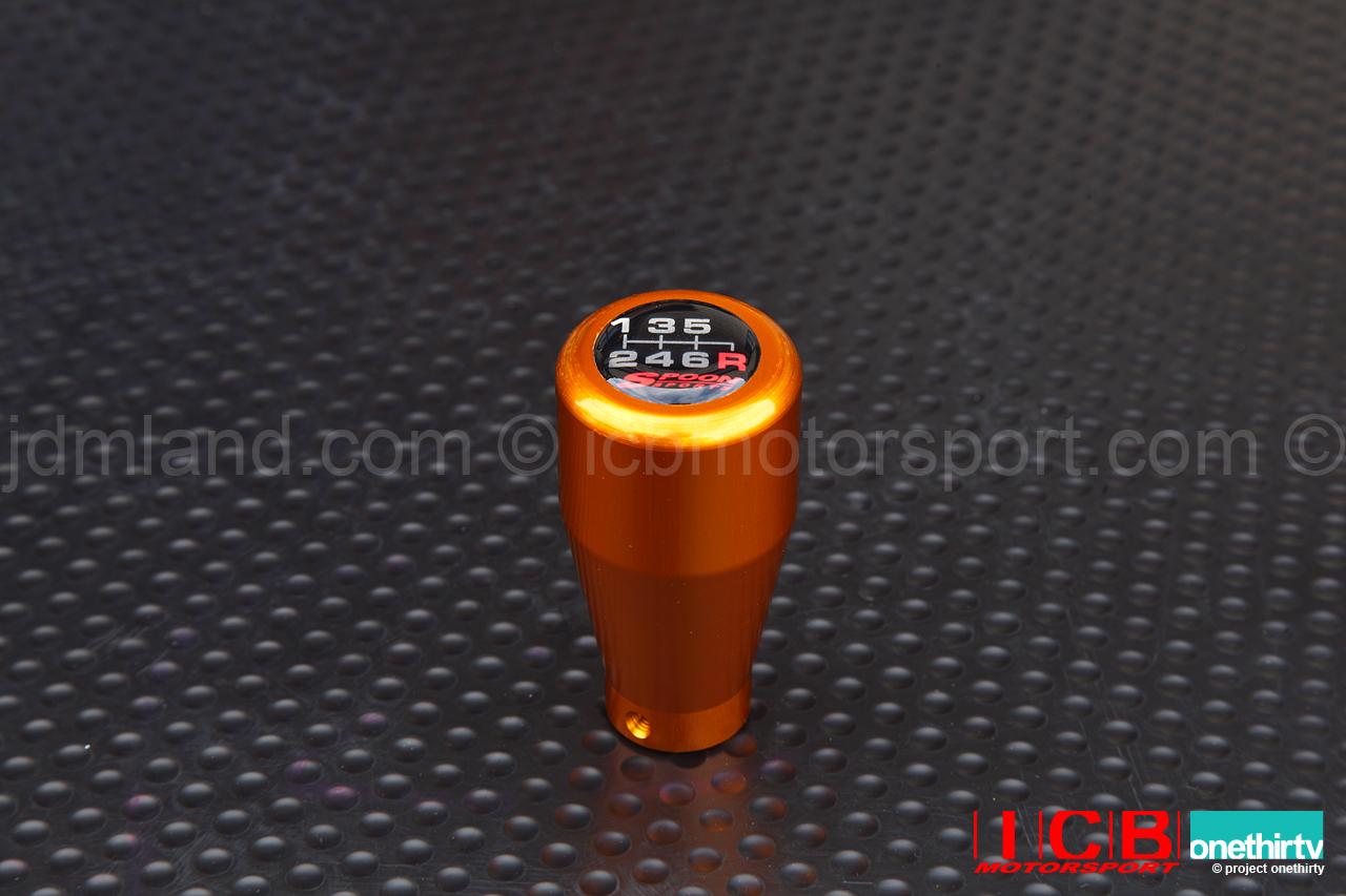 Spoon Sports Aluminum Shift Knob 5 Speed 6 Speed Anodized Gold