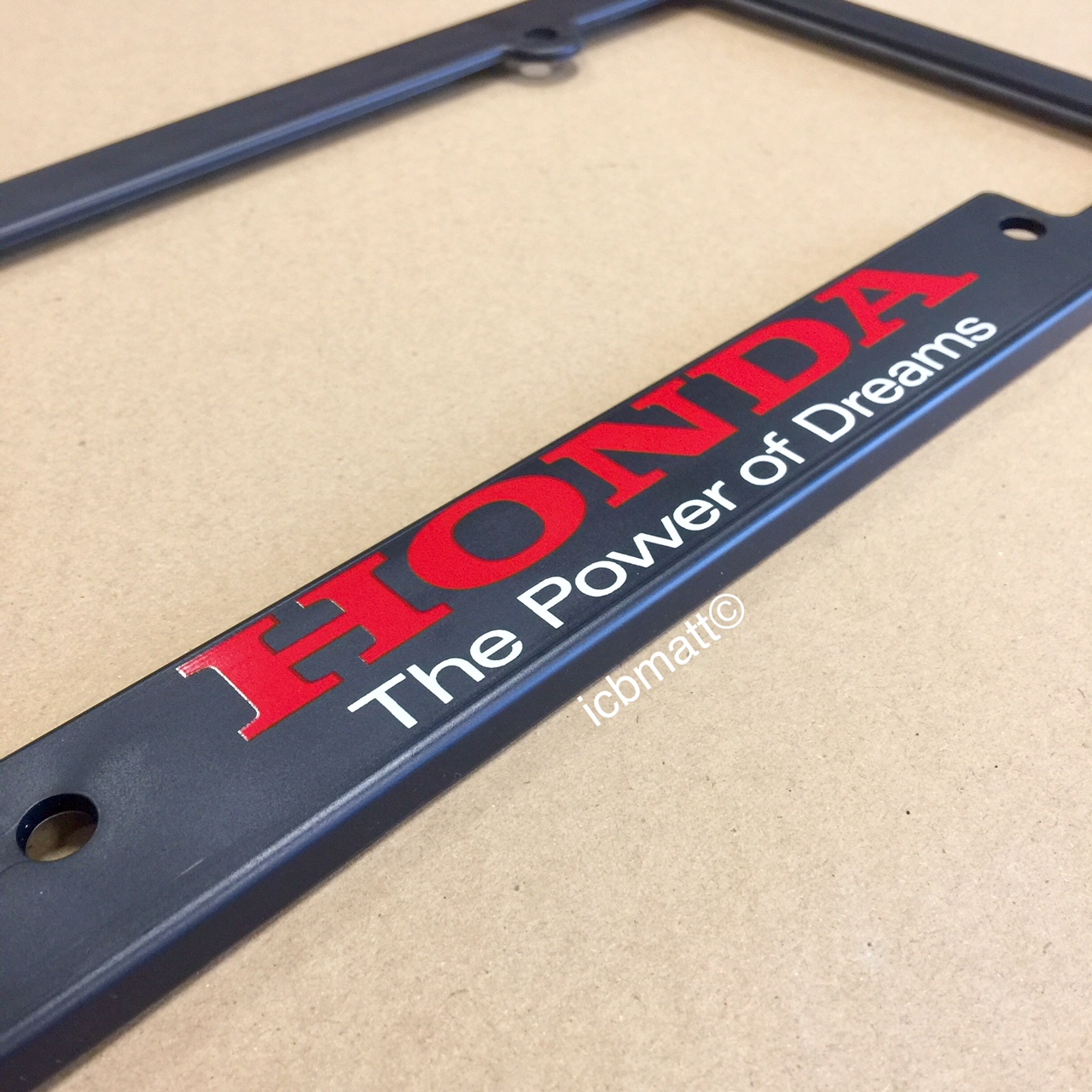 Honda Power Of Dreams License Plate Frame For Usdm Plates
