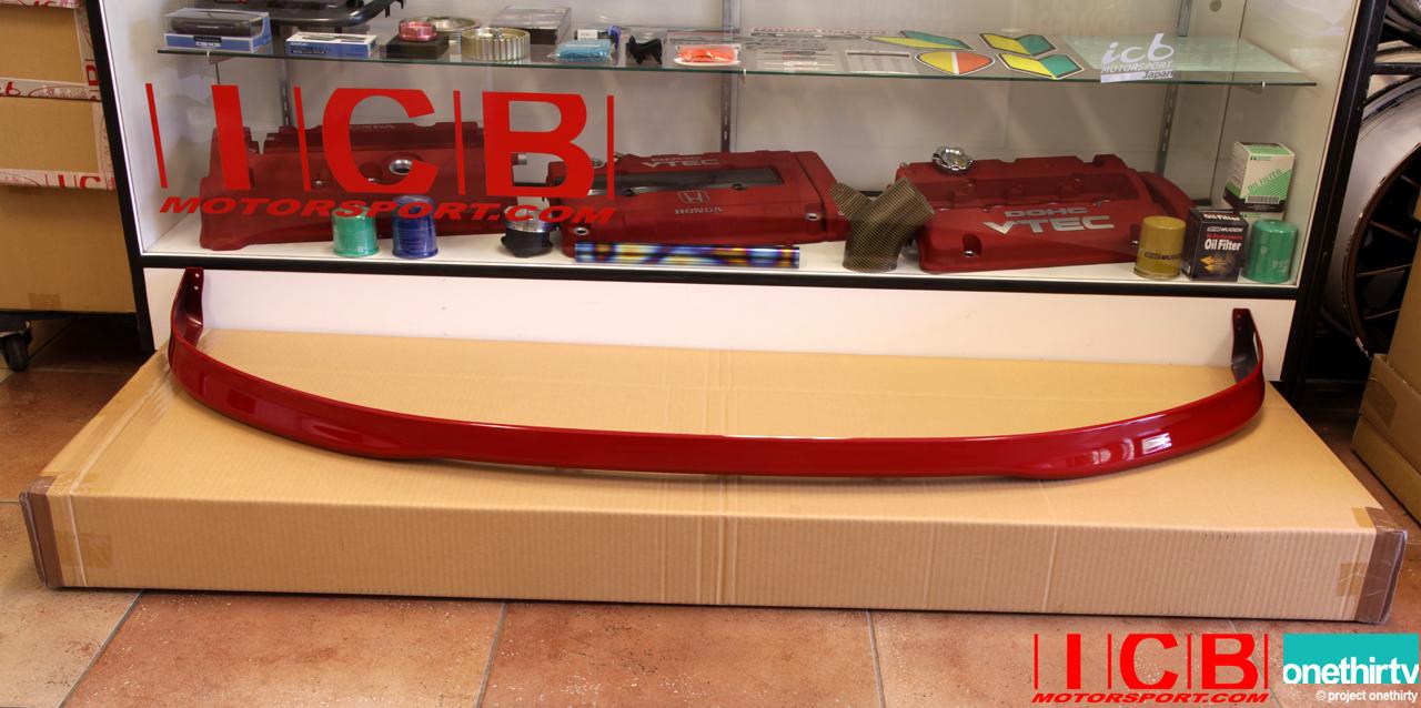 Usdm Civic Em1 99 00 Si Front Lip Spoiler Milano Red R81