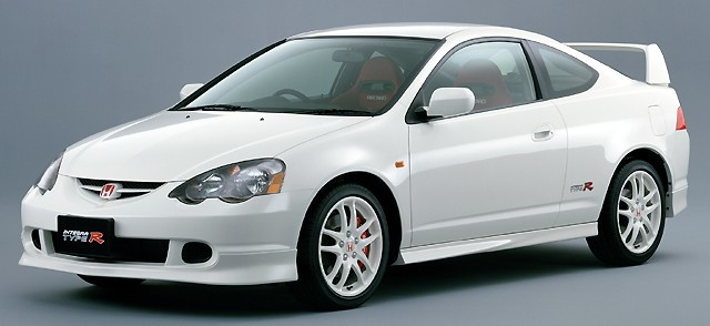 JDM Integra DC5 Type R Champ. White Center Caps